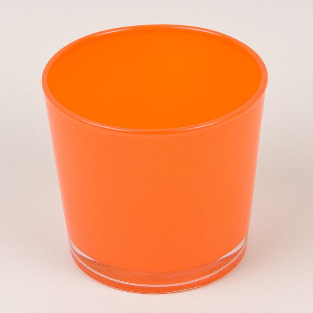 Dekoglas rund orange for Dekosteine rund