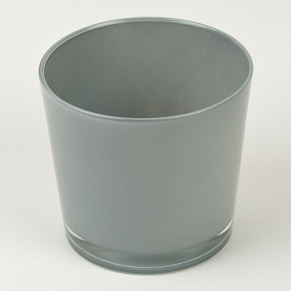 Dekoglas rund grau for Dekosteine rund
