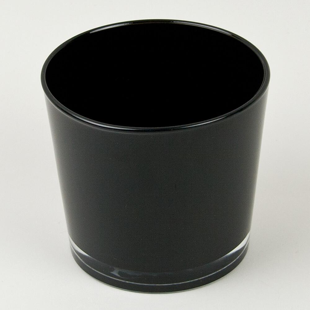 Dekoglas rund schwarz for Dekosteine rund