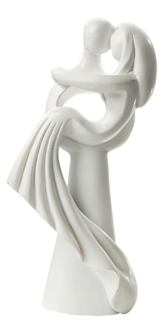 Hochzeitspaar modern stehend wei 10 cm for Dekofiguren modern