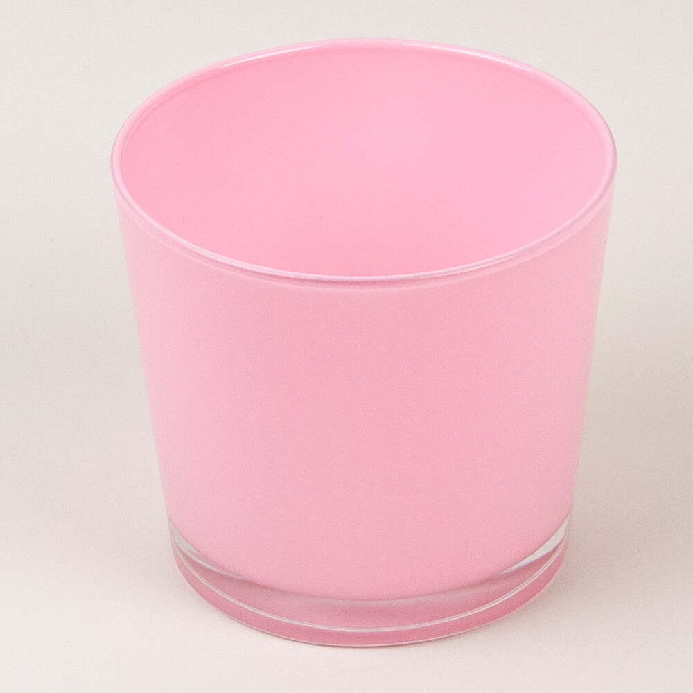 Dekoglas rund rosa for Dekosteine rund
