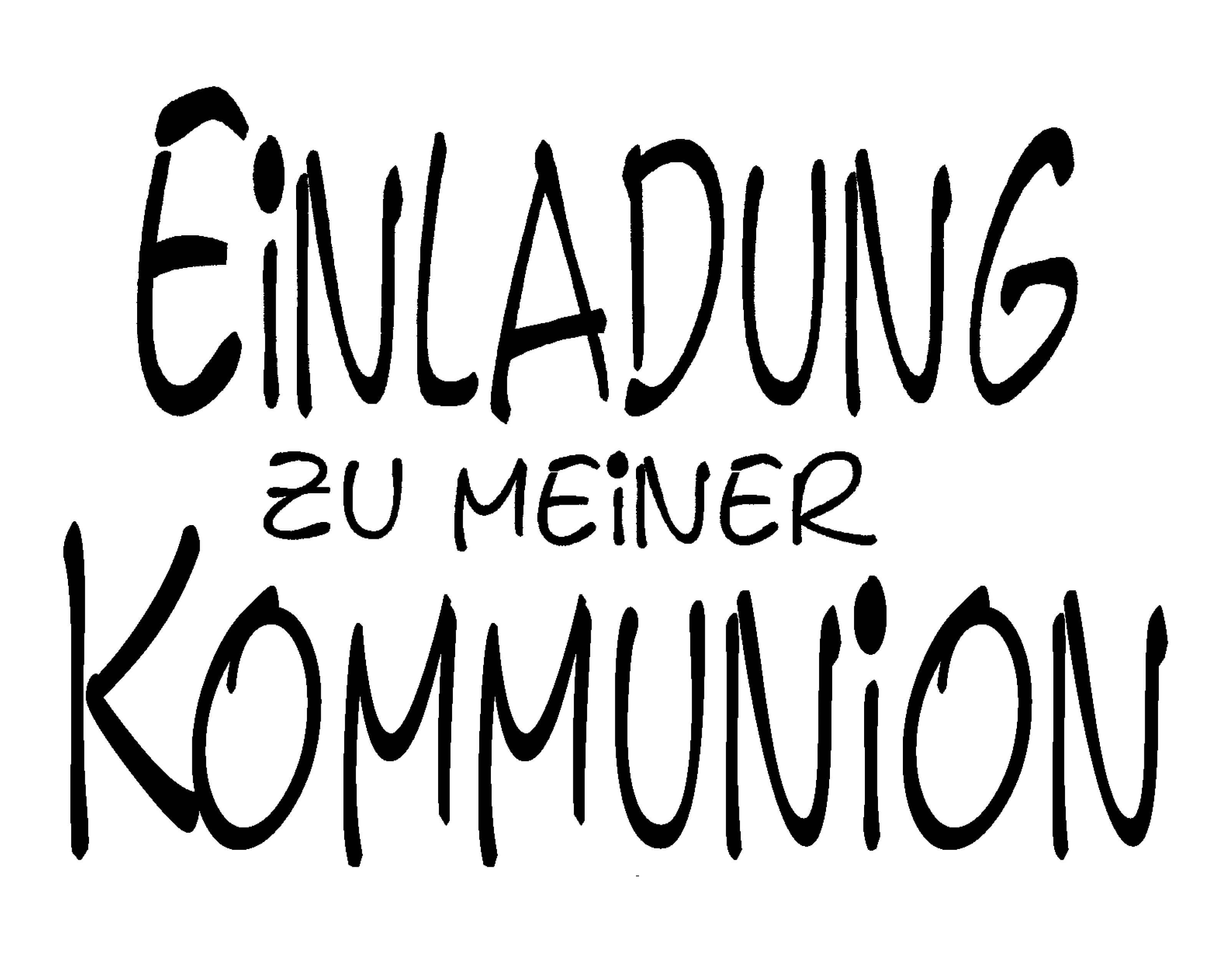 Toll Stempel Einladung Zu Meiner Kommunion 60 X 41 Mm
