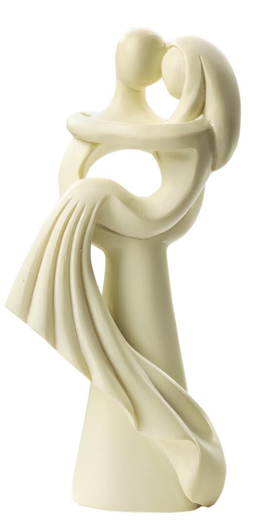Hochzeitspaar modern stehend creme 10 cm for Dekofiguren modern